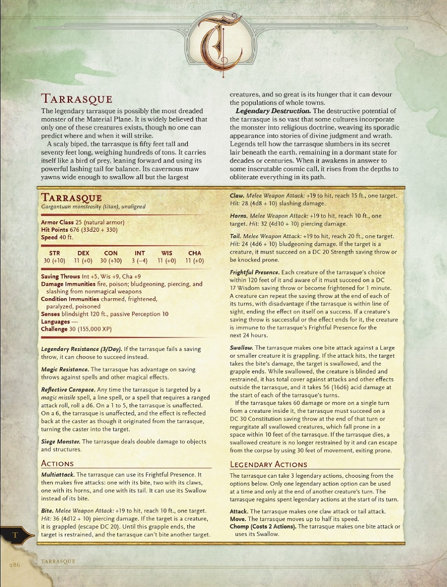 D Amp D 5th Edition Monster Manual Manticore Revealed The