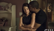 Audrey Marie Anderson as Lyla Michaels and David Ramsey as John Diggle. Photo Credit: Cate Cameron/The CW