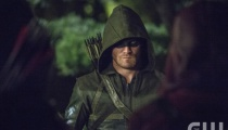 Stephen Amell as The Arrow. Photo Credit: Cate Cameron/The CW