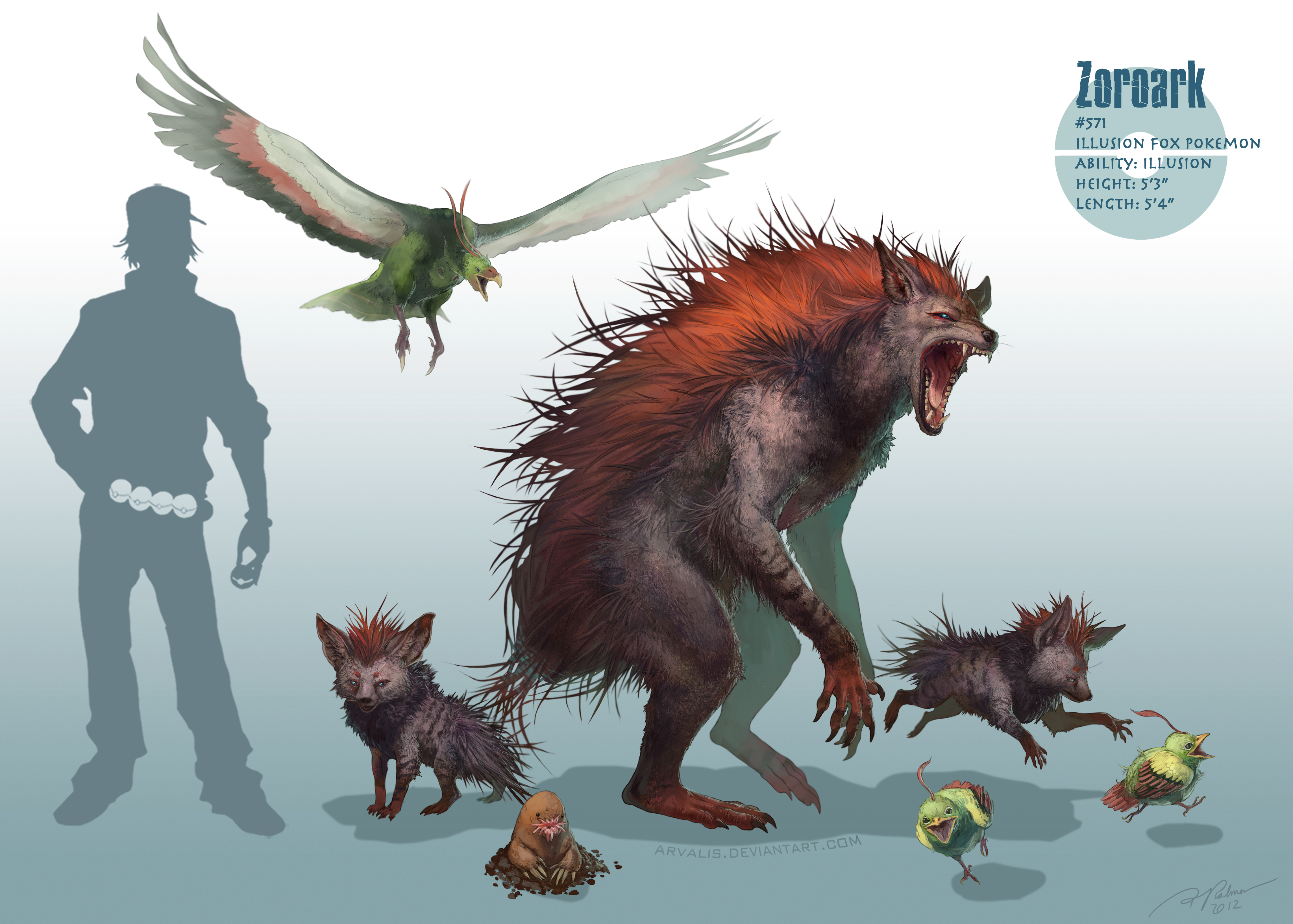 """""""Realistic Pokemon"""" Created by Artist 