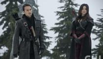 Karl Yune as Maseo and Katrina Law as Nyssa al Ghul. Photo Credit: Cate Cameron/The CW