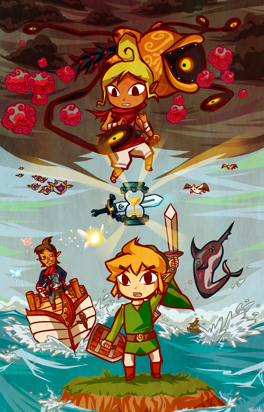 Legend Of Zelda Wind Waker Deviantart Fan Art The Escapist