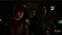 Colton Haynes as Arsenal and David Ramsey as John Diggle. Photo Credit: The CW.