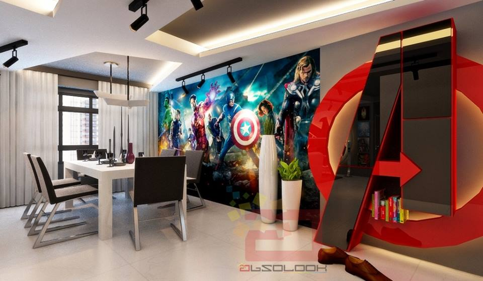 Avengers Assemble In This Rad Apartment