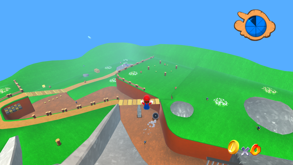 First Level Of Super Mario 64 Now Browser Compatible | The