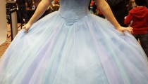 Thanks to convention magic, Cinderella doesn't have to worry about midnight striking. Bibbity bobbity boo!