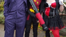 Joker, Harley, and Joker-gassed Robin agree: The family that kills Batman together stays together.